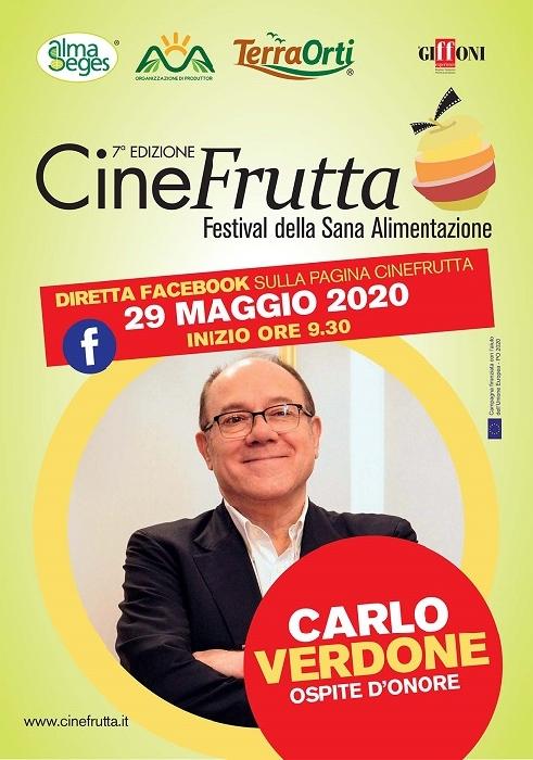 Il 29 maggio la finale sul web di Cinefrutta con Carlo Verdone