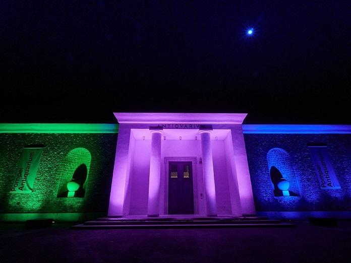 Il Parco archeologico di Pompei partecipa alla Giornata Mondiale delle Malattie Rare, con illuminazione a colori  della facciata dell�Antiquarium