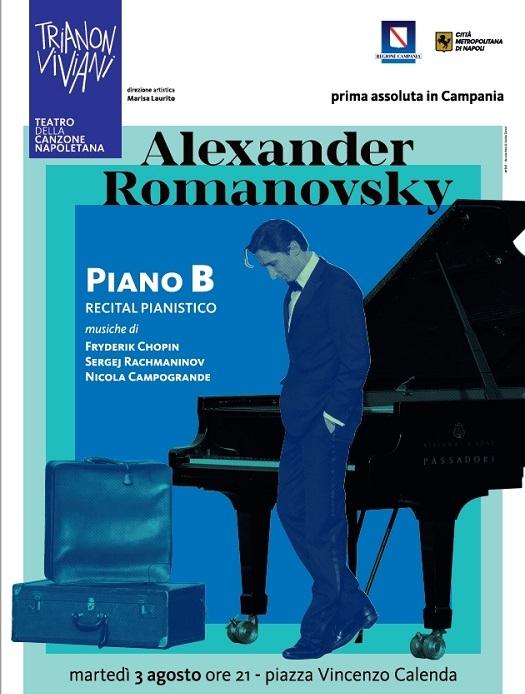 Il Piano B di Romanovsky in recital a piazza Calenda, il pianista ucraino ha interpretato Chopin, Rachmaninov, Liszt e Skrjabin davanti al Trianon Viviani a Forcella