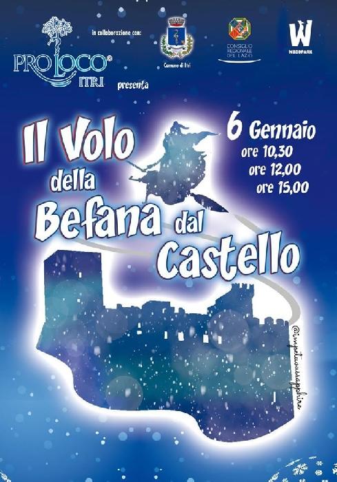 06/01 - Itri (LT) - Il volo della Befana dal Castello