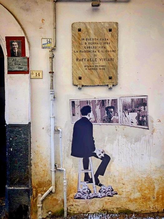 L'omaggio a Raffaele Viviani dell'artista Nello Petrucci