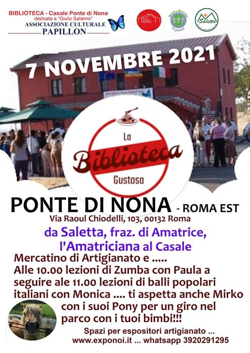07/11 - Ponte di Nona - Roma Est - La Biblioteca Gustosa