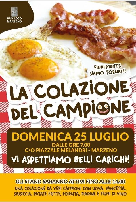 25/07 - Piazza Melandri - Marzeno (RE) - La Colazione del campione