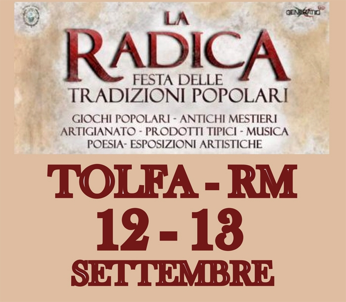 12 e 13 Settembre - Tolfa (RM) - La Radica, festa delle tradizioni popolari