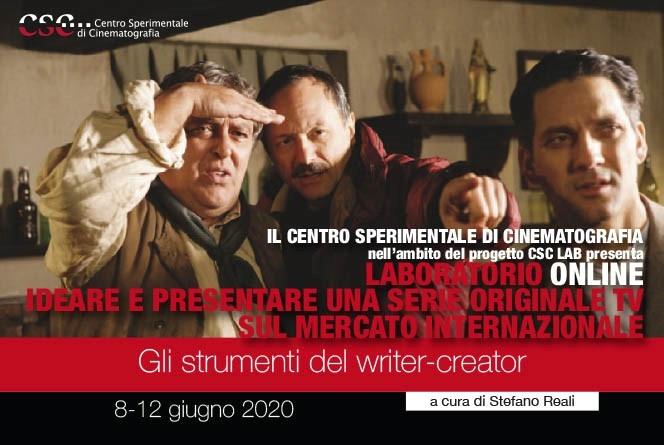 Laboratorio online Ideare e presentare una serie originale TV sul mercato internazionale - gli strumenti del writer-creator a cura di Stefano Reali dall