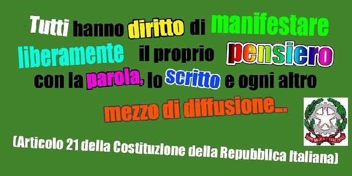 Libertà di pensiero e pluralismo informativo: nessuno ha il verbo o la parola di dio!!
