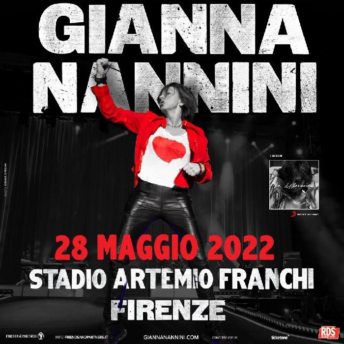 Locandina concerto Gianna Nannini a Firenze