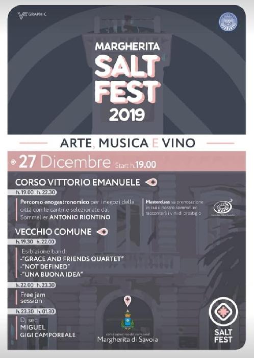 27/12 - Margherita di Savoia (BAT) - Margherita Salt Fest 2019 - Arte, Musica e Vino