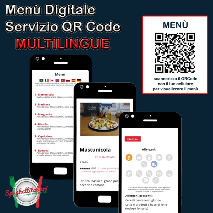 Da oggi il nostro Menù digitale è anche multilingue, traducibile in 108 lingue diverse