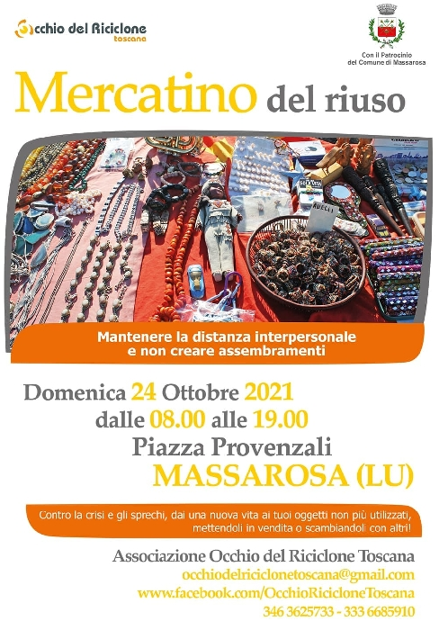 24/10 - Piazza Provenzali - Massarosa (LU) - Mercatino del Riuso