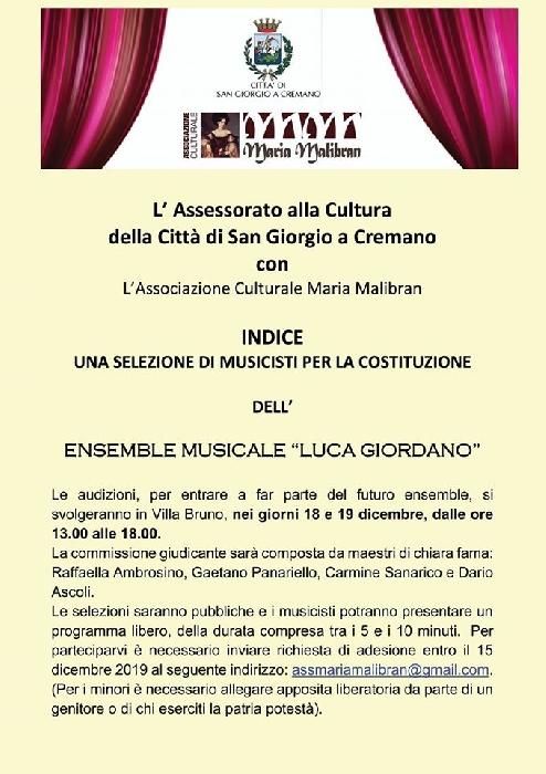 Nasce la prima orchestra ufficiale della Citt� di San Giorgio a Cremano