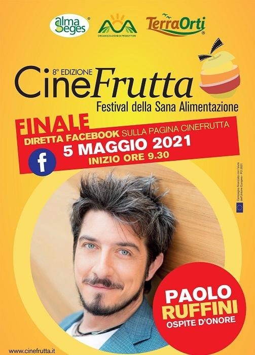 Paolo Ruffini ospite il 5 maggio alla finale di Cinefrutta