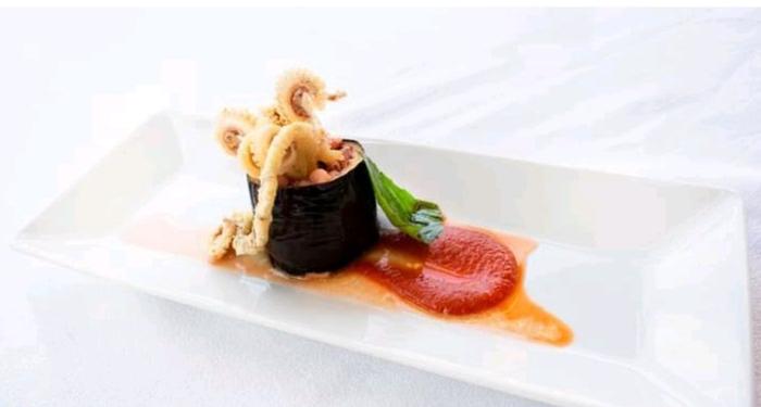Parmigiana di calamari, dedicata a Carmen Consoli per la rubrica Musica con Gusto 2.0