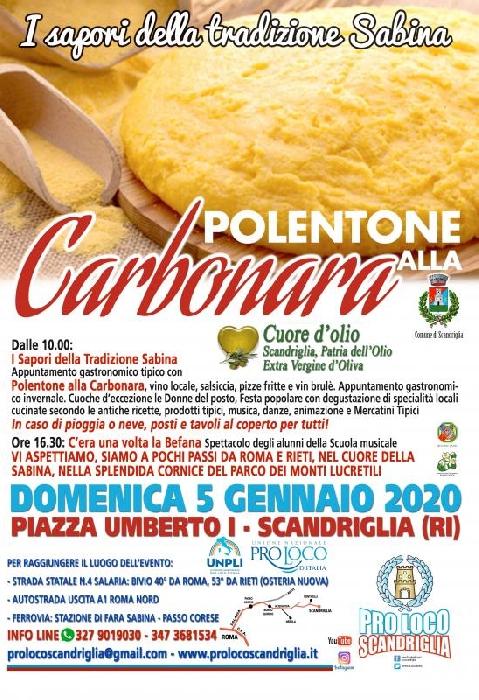 05/01 - Piazza Umberto I - Scandriglia (RI) - I Sapori della tradizione sabina: Polentone ala carbonara