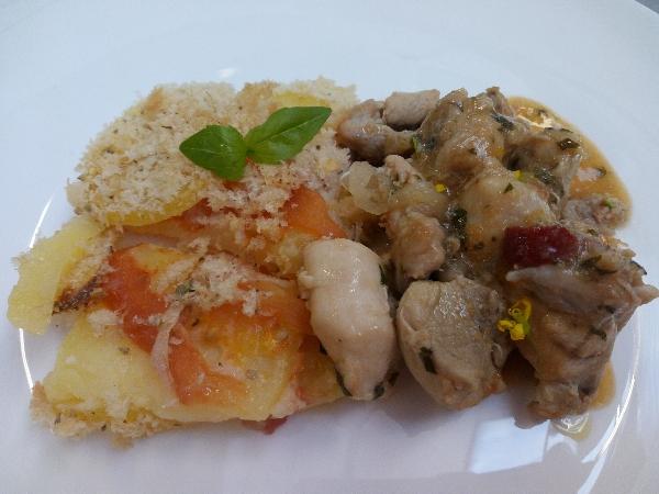 Ricetta inserita su spaghettitaliani.com da Pasquale Esposito: Pollo alla potentina con patate raganate