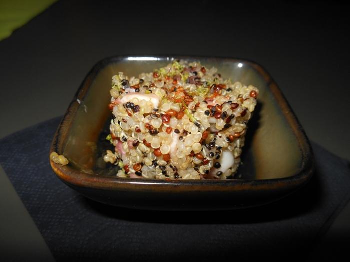 Polpo al curry e quinoa