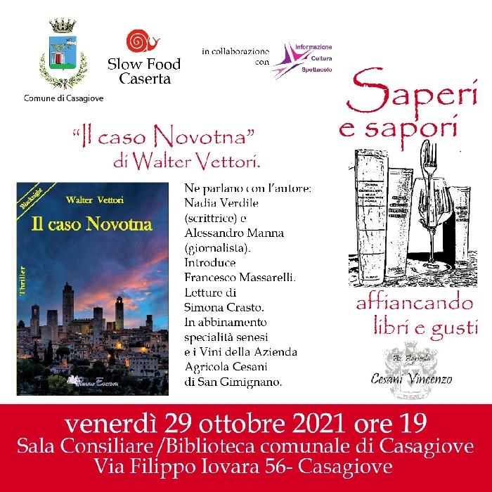 29/10 - Casagiove (CE) - Presentazione del Libro Il Caso Novotna di Walter Vettori