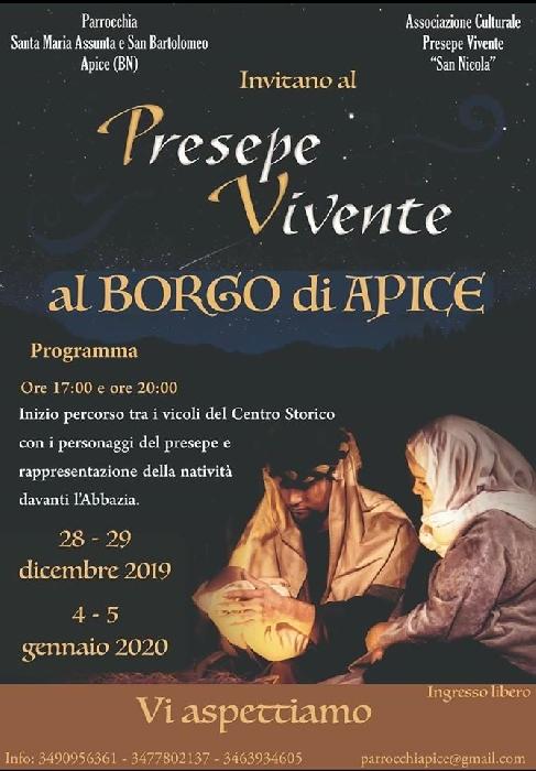 28 e 29 Dicembre e 4 e 5 Gennaio - Apice (BN) - Presepe vivente al Borgo di Apice