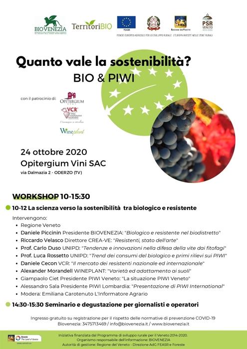 24/10 - Opitergium Vini SAC - Oderzo (TV) - Quanto vale la sostenibilità?