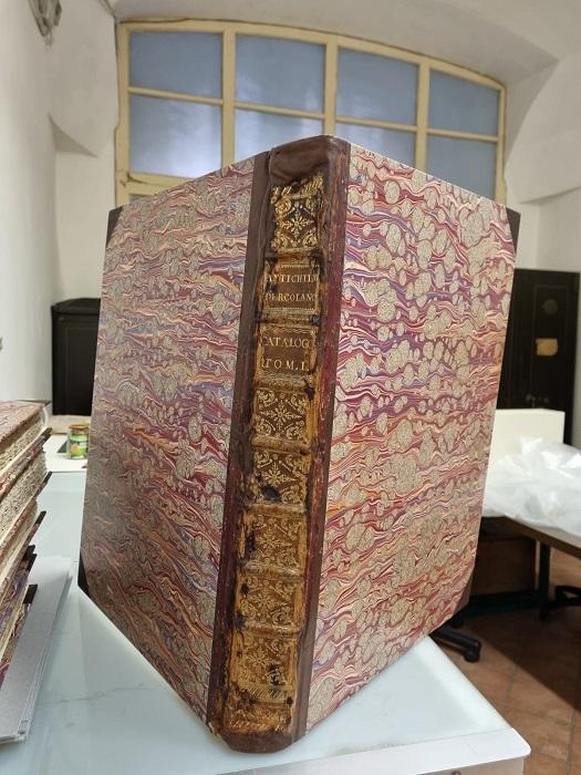 Rientrano al Parco i volumi restaurati dalla Biblioteca, la prestigiosa opera settecentesca rientra al Parco Archeologico