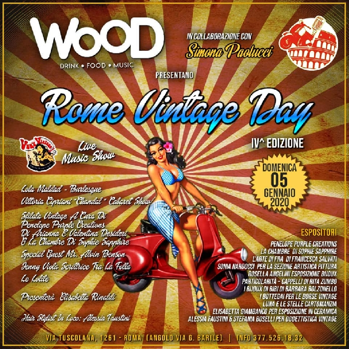 05/01 - Wood - Roma - Rome Vintage Day