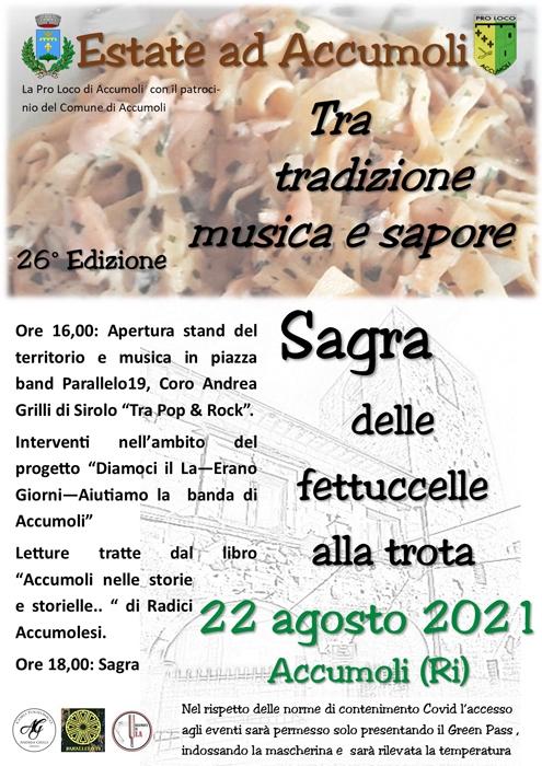 22/08 - Accumoli (RI) - Sagra delle Fettuccelle alla Trota