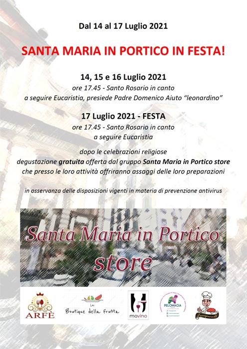 Dal 14 al 17 Luglio - Napoli - Santa Maria in Portico in Festa!