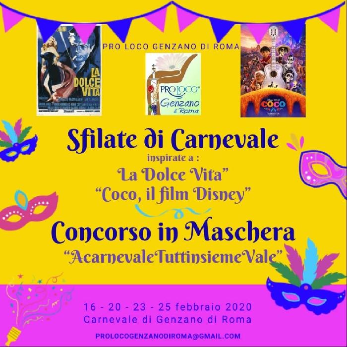 16, 20, 23, 25 Febbraio -Genzano di Roma (RM) - Sfilate di Carnevale