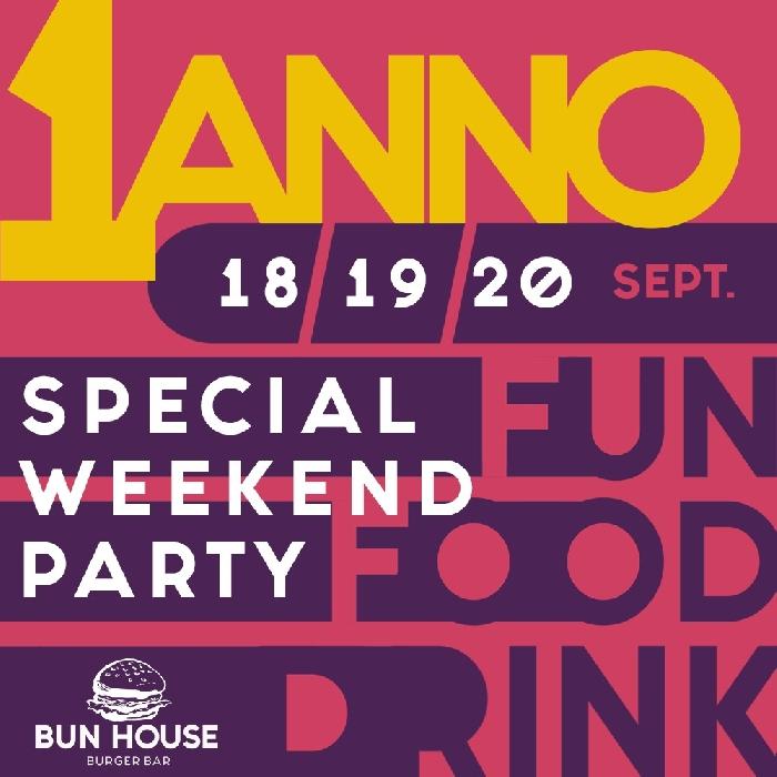 18, 19 e 20 Settembre - Bun House - Napoli - Special Week End per festeggiare 1 anno di attività