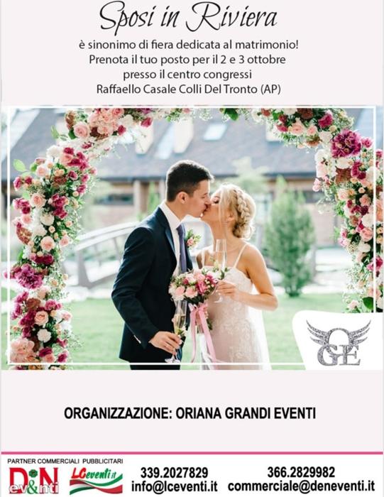 2 e 3 Ottobre - Centro Congressi Raffaello Casale - Colli del Tronto (AP) - Sposa in Riviera