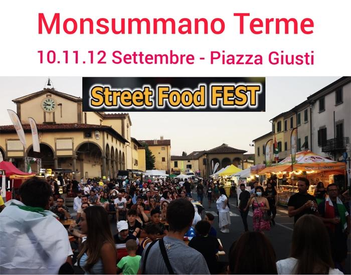 Dal 10 al 12 Settembre - Piazza Giusti - Monsummano Terme (PT) - Street Food Fest