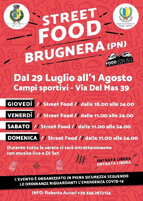 Dal 29 Luglio al 1° Agosto - Campi Sportivi - Brugnera (PN) - Street Food