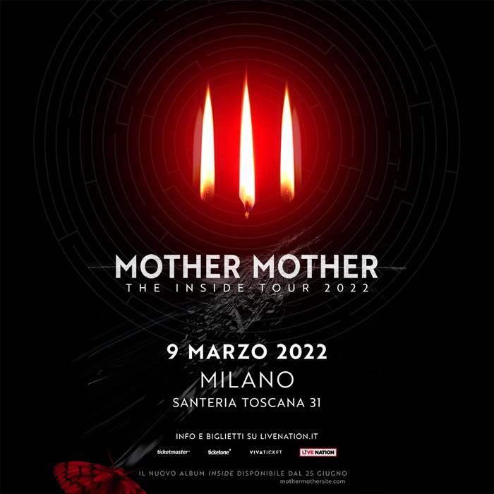 MOTHER MOTHER ANNUNCIANO LE DATE DI THE INSIDE TOUR 2022 -9 MARZO 2022 MILANO @ SANTERIA TOSCANA 31