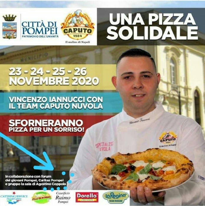 Dal 23/11 al 26/11 - Pompei (NA) - Una Pizza Solidale - Vincenzo Iannucci con il Team Caputo sforneranno Pizza per un Sorriso!