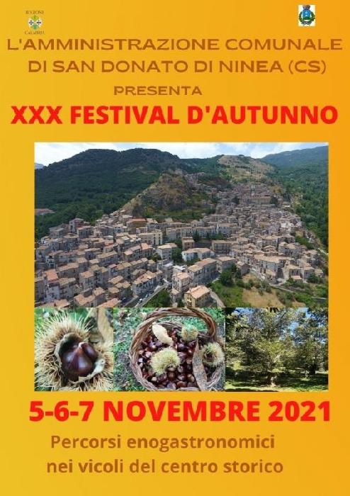 Dal 5 al 7 Novembre - Centro Storico - San Donato di Ninea (CS) - XXX Festival d