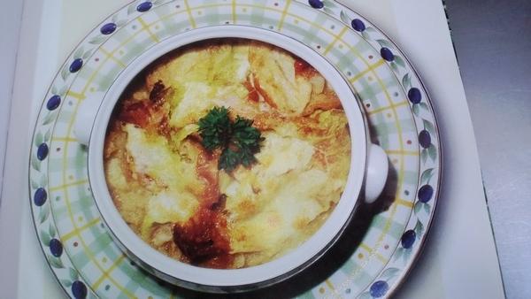Zuppa di pane di segale e verze