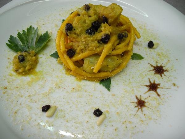 Pasta con i broccoli arriminati (cavolfiore in tegame)