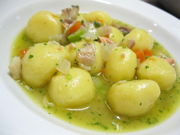 Gnocchi di patate (senza glutine) con guazzetto d'acqua dolce