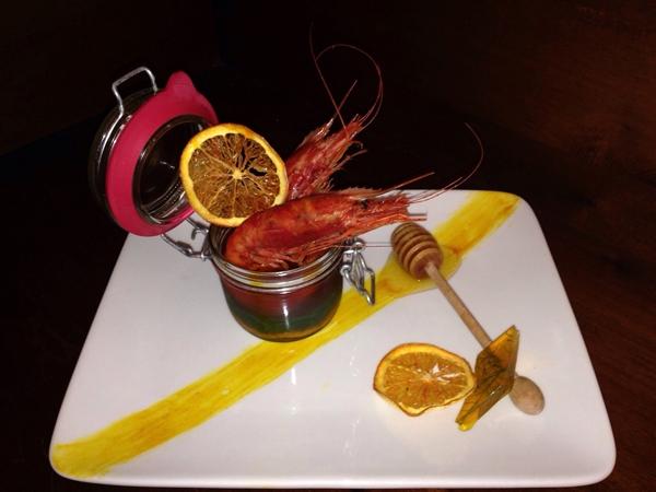 Tentazioni di gusto: Gamberoni di Mazara laccati all'arancia e miele d'acacia