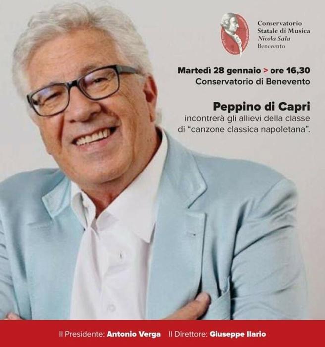 28/01 - Conservatorio di Benevento - incontro con Peppino di Capri