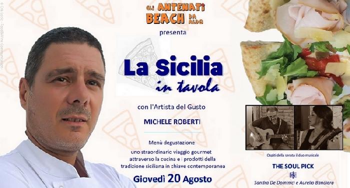 """Il 20 agosto alla pizzeria Gli Antenati Beach di Messina """"La Sicilia in tavola"""""""