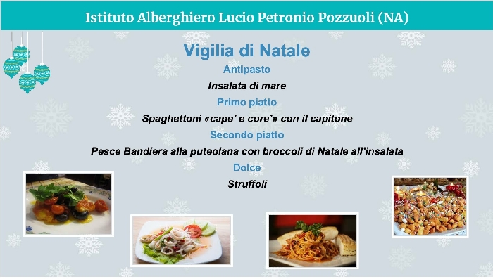 Il Petronio di Pozzuoli ha presentato il menu napoletano delle feste in un webinar con il ministro all