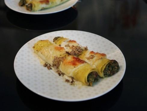 -Cannelloni Rag� Bianco e Tartufo Nero.