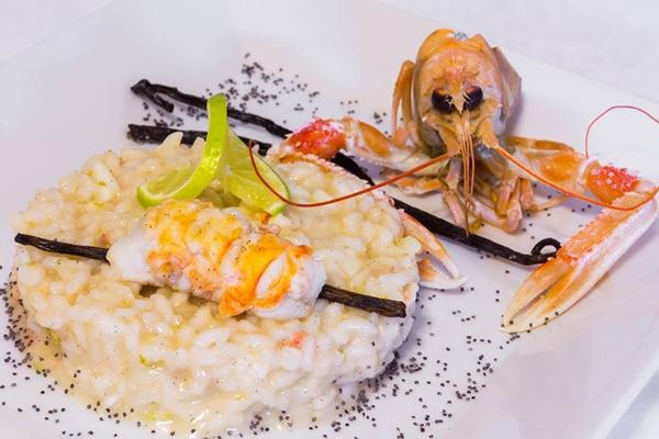 Ricetta inserita su spaghettitaliani.com da Simone Pezzulla: Risottino con scampetti, zenzero e lime al profumo di vaniglia