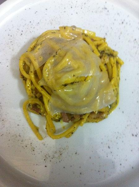 Carbonara tartufata al maialino nero dei monti lepini