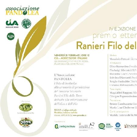 50 Sfumature di Olio, il 21 febbraio a Roma premiazione del Premio letterario Ranieri Filo della Torre
