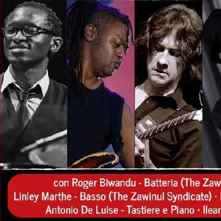 Grande jazz venerdì 21 febbraio con il quintetto capitanato dagli ex Zawinul Syndicate, Roger Kiwandu e Linley Marthe al Moro di Cava dei Tirreni
