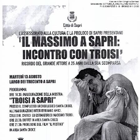 13/08 - Sapri (SA) - Il Massimo di Sapri: Incontro con Troisi