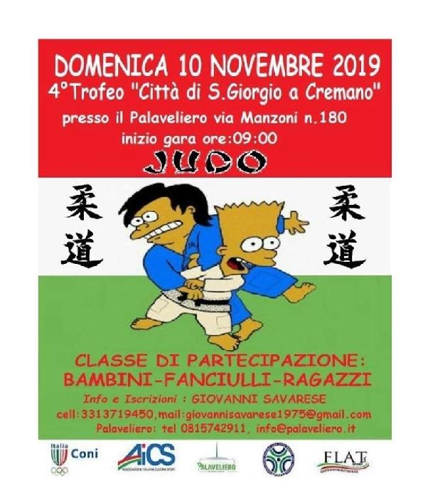 4° Trofeo Città di San Giorgio a Cremano di Judo