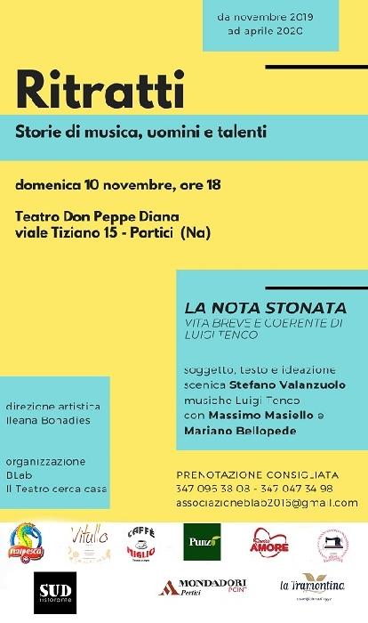 Domenica 10 novembre al Teatro Diana di Portici prenderà il via una nuova rassegna teatrale.